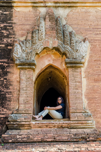 Wanderlust…the window to my soul! At DhammayanJi Temple, Bagan