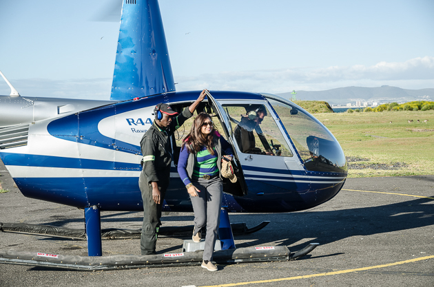 Feeling like a Celebrity...The Two Oceans Helicopter Ride