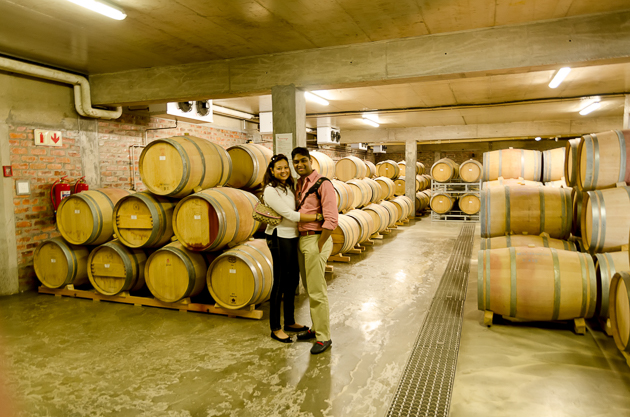 Personalised cellar tour at Holden Manz