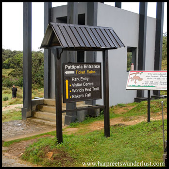 Pattipola Entrance at the Horton Plains National Park