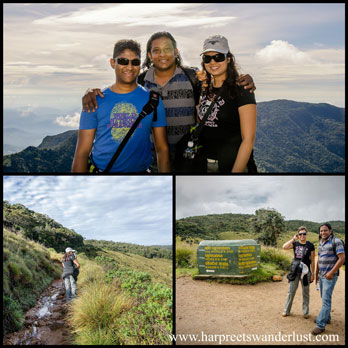 M, Ravi and I at Greater World's End, the trek up to Bakers Falls and....ending where we began! Phew!