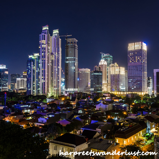 Skyline of Jakarta from Skye Bar