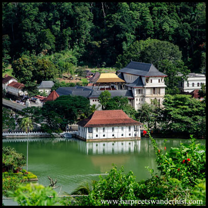 Temple of the Tooth and Lake Kandy