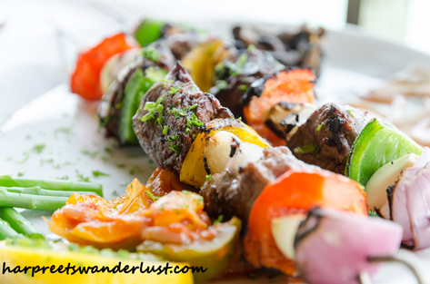 Angus Beef skewers at Dr Frogs