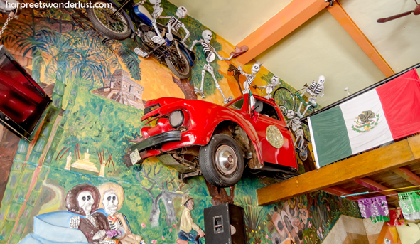 The eclectic and quirky interior of La Parilla