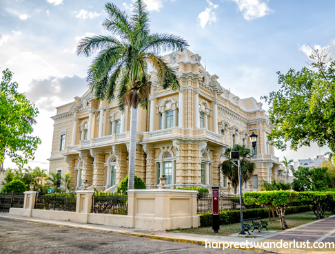 One of the many stunning mansions on Paseo Montejo
