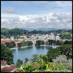 A panoramic view of Kandy