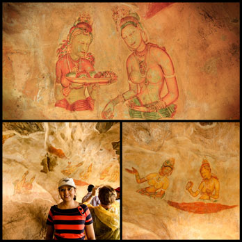 The frescoes in the cave