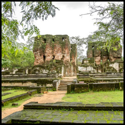 The Royal Palace ruins in Polonnaruwa