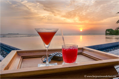 Delicious sun downers, sipped while the sun melts away