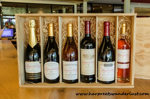 The premium wine selection at Leopards Leap