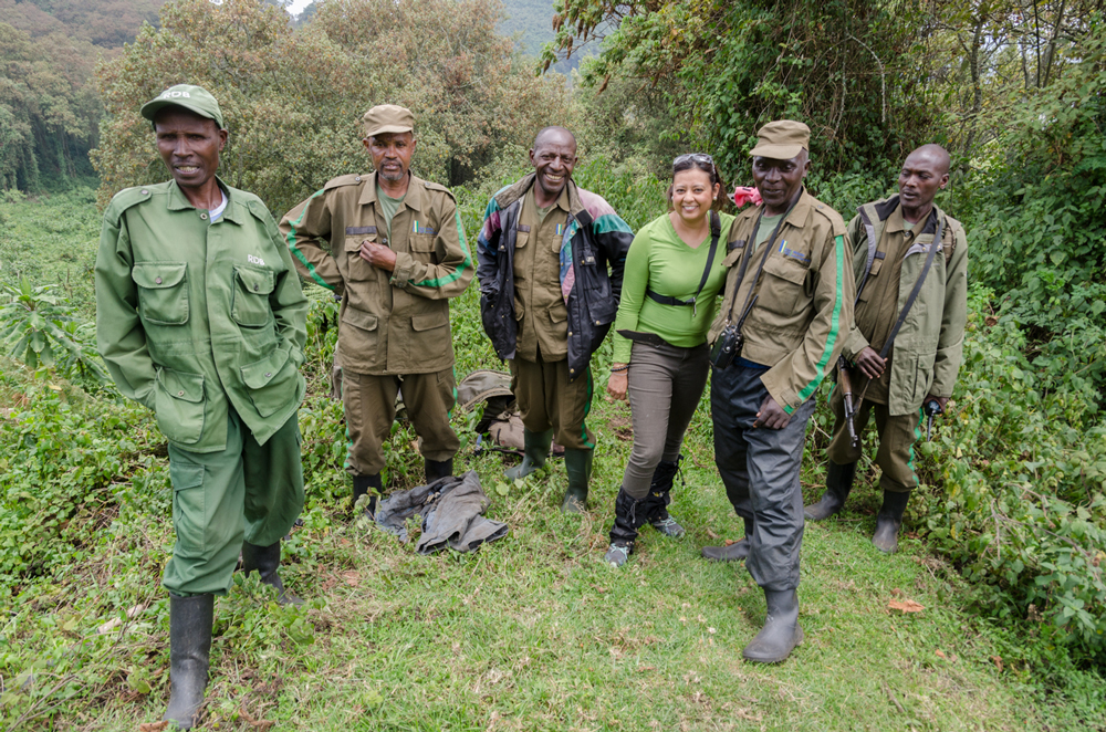 Trackers and Rangers that do one heck of a job out here in the Virungas!