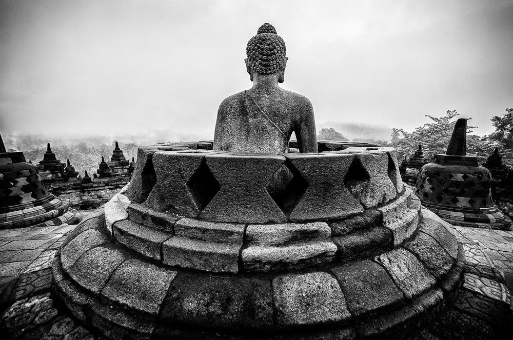 The Open Stupa with the Buddha facing East