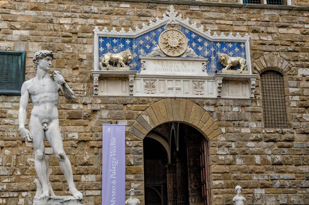 Replica of David in Piazza della Signoria