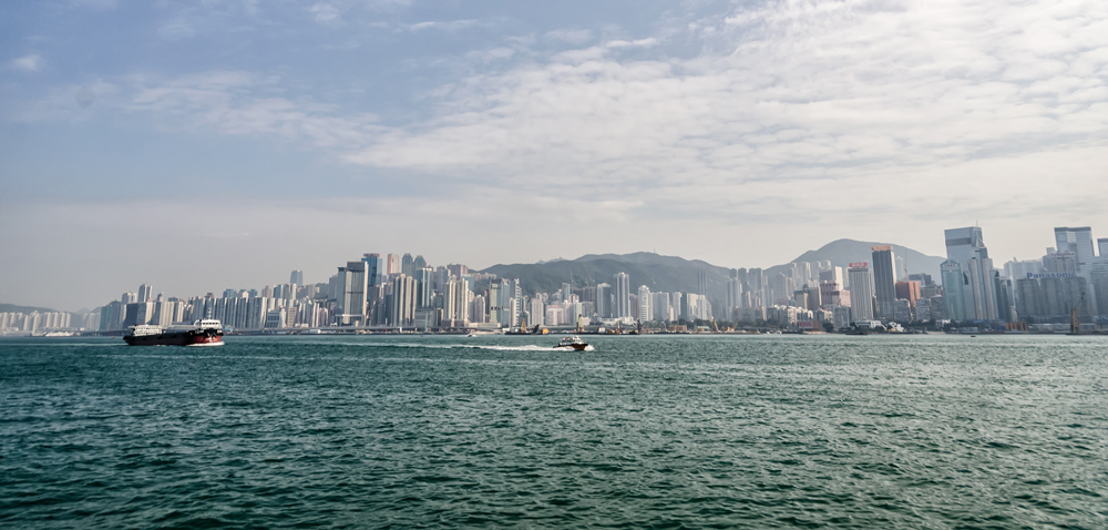 View of the skyline from Tsim Tsa Tsui