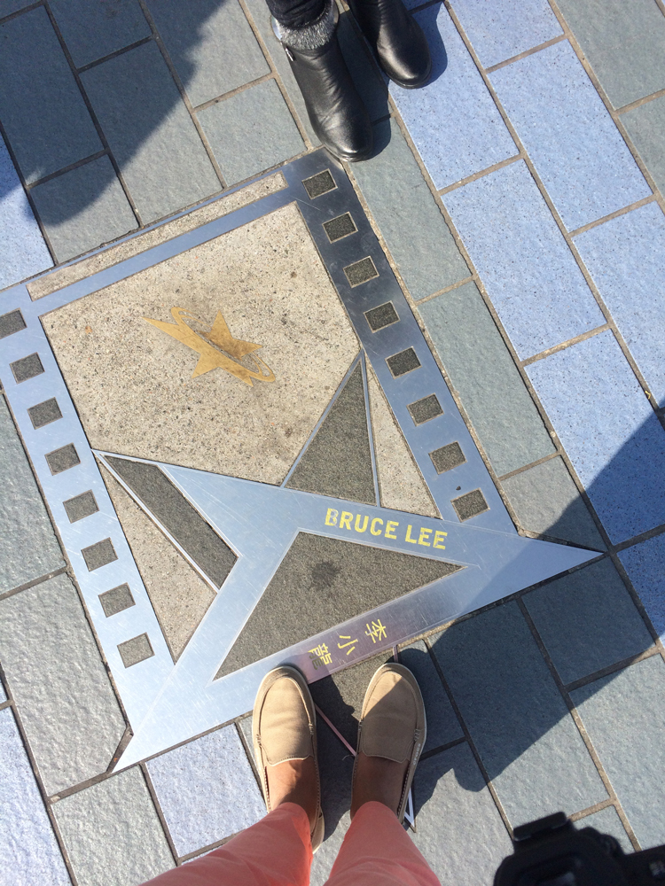 A footstagram along The Avenue of Stars