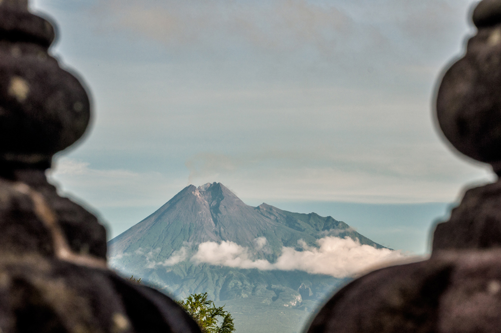 Mt Merapi looks awesome from a distance!