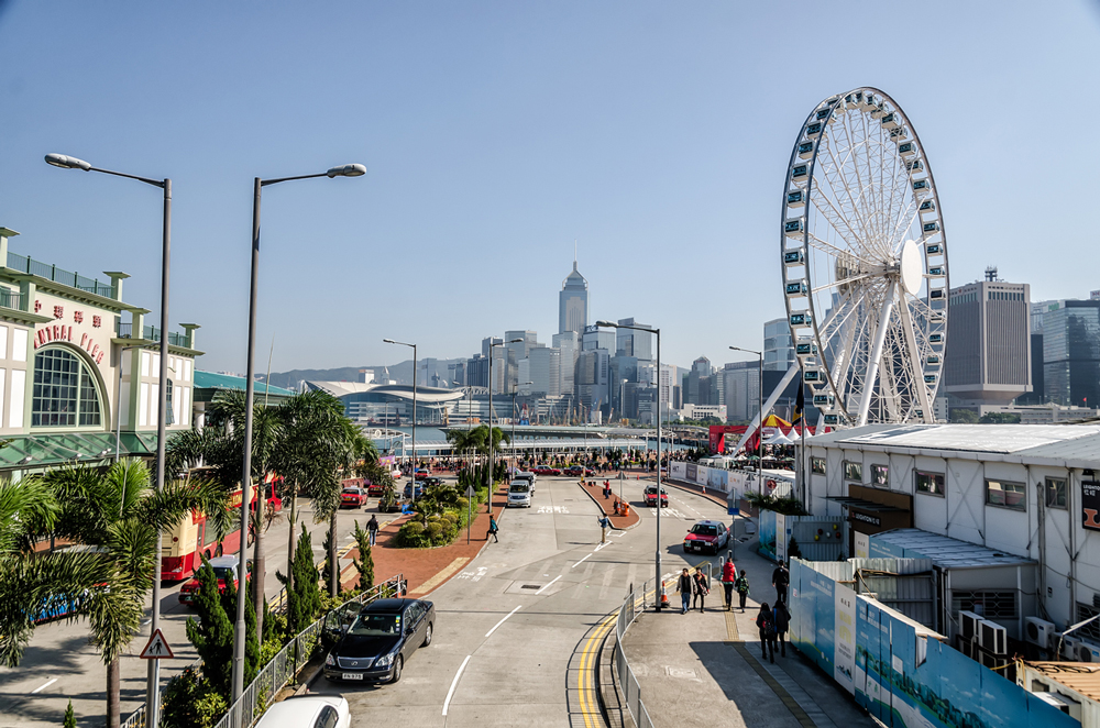 Central Pier and the Hong Kong Ferris wheel