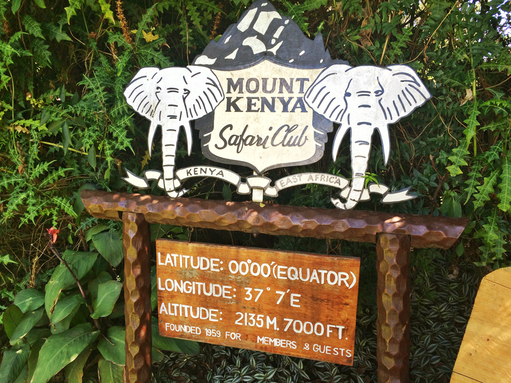 Mount Kenya Safari Club- The Equator Line