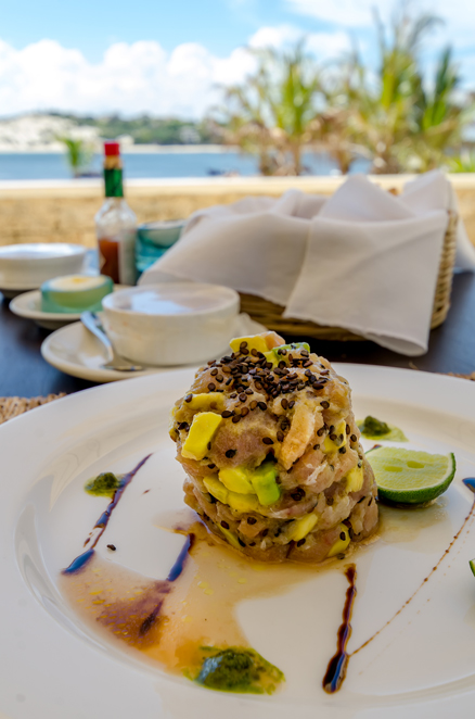 Delectable cuisine...Tuna tartare to die for!