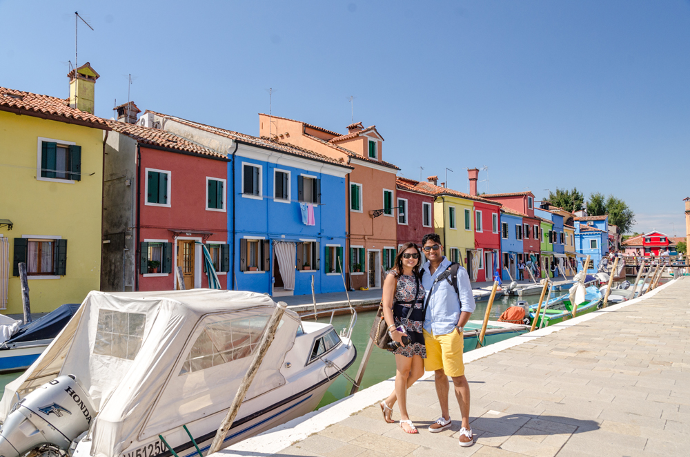 All smiles in colourful Burano!