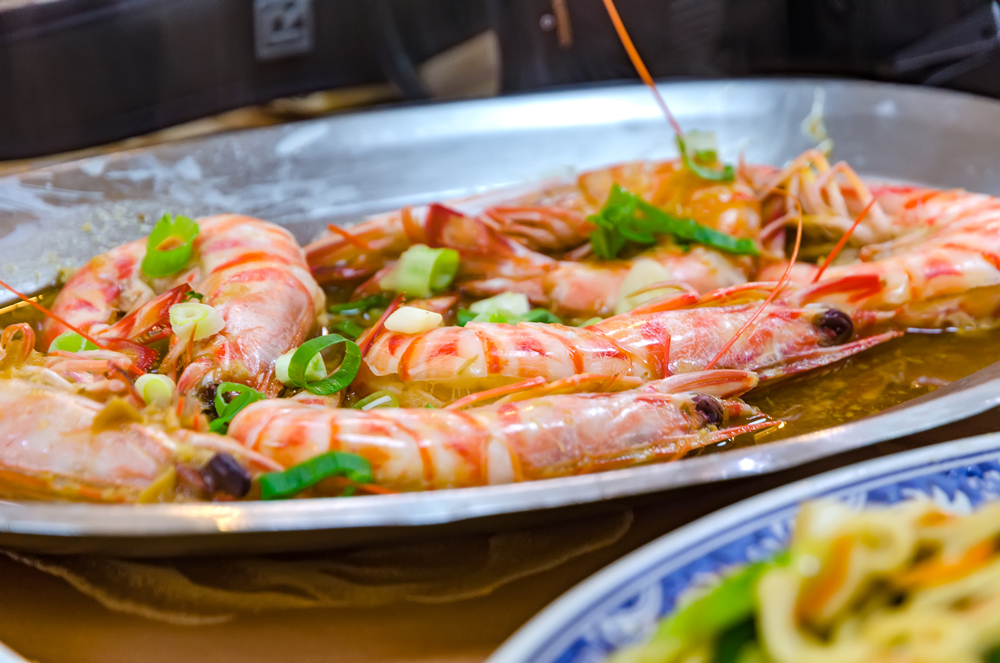 Freshly cooked prawns...delicious!