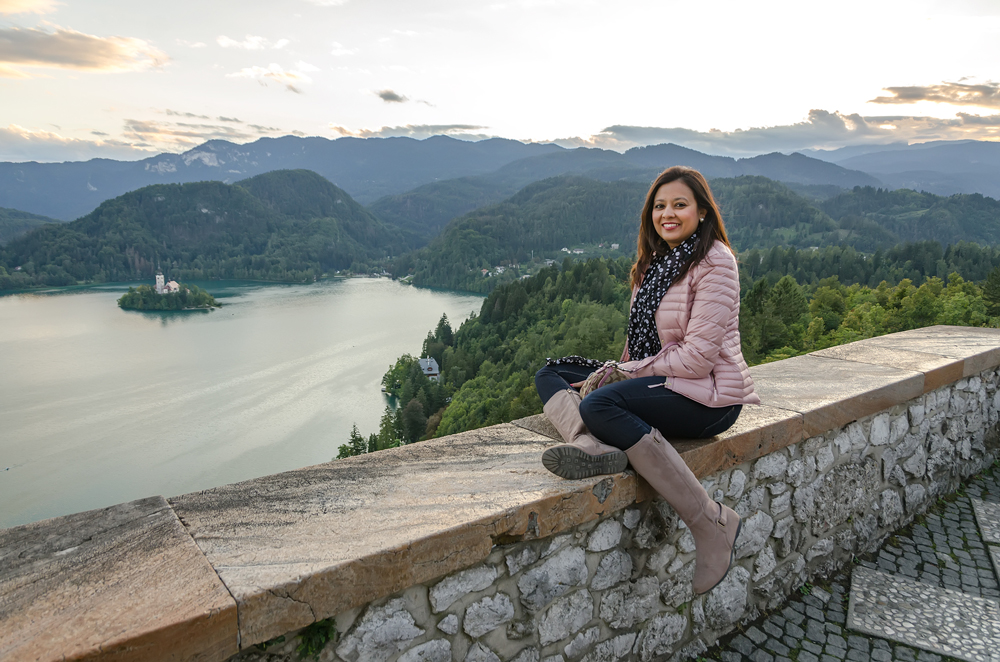 Feeling like a princess, on top of the world at Bled Castle