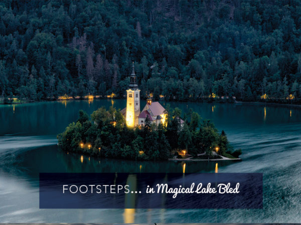 Footsteps in Magical Lake Bled