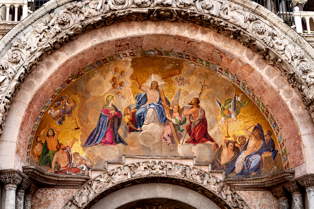 Frescoes on St Marks Basilica