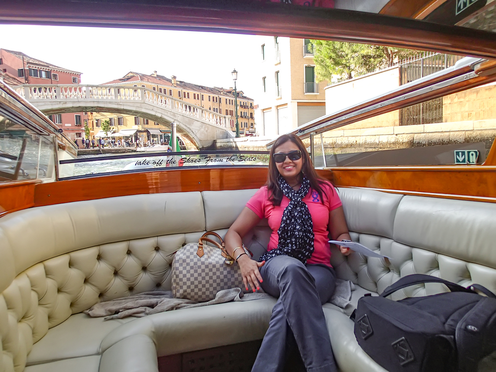 Riding the Grand Canal in style!