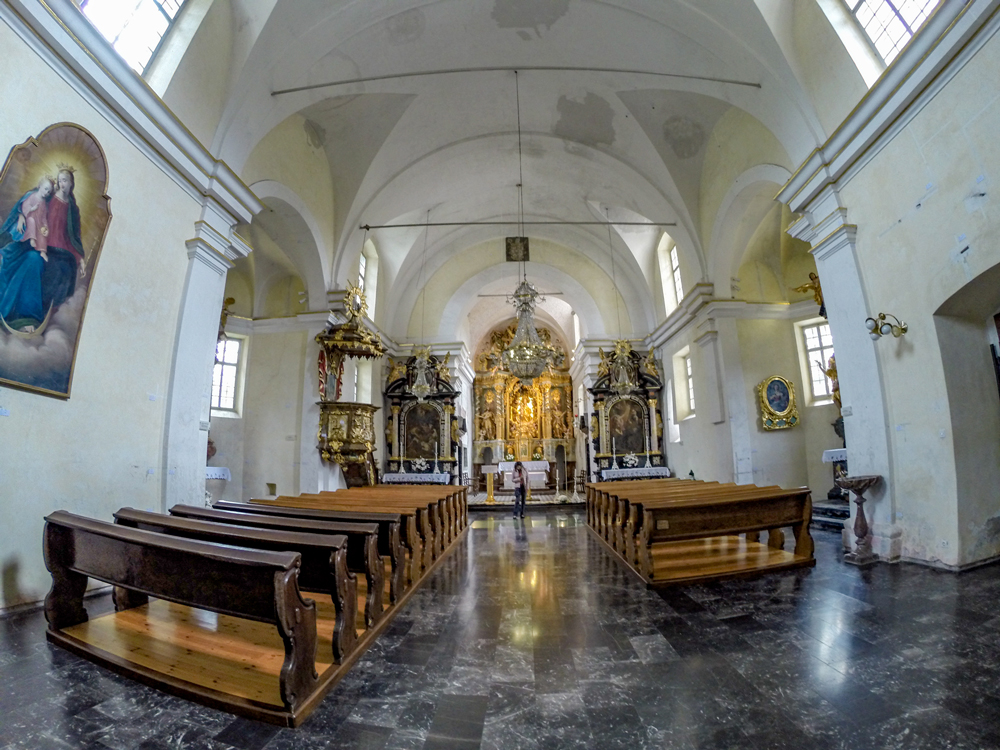 Inside the Church of Assumption