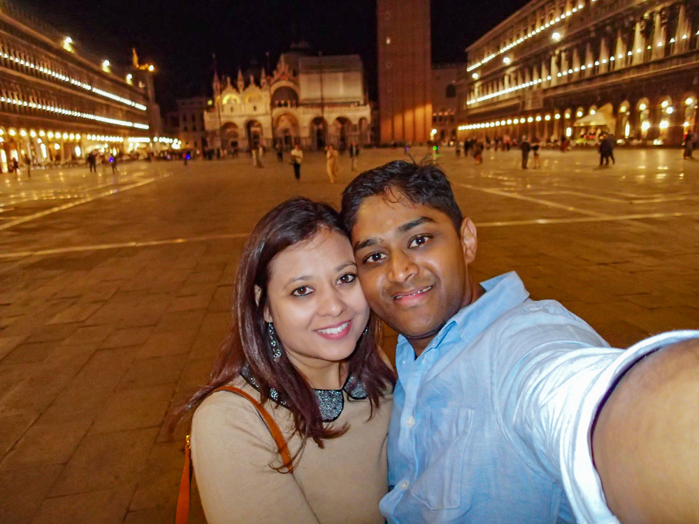 "Selfie Time in St Marks Square...before the ""Rose Incident"""