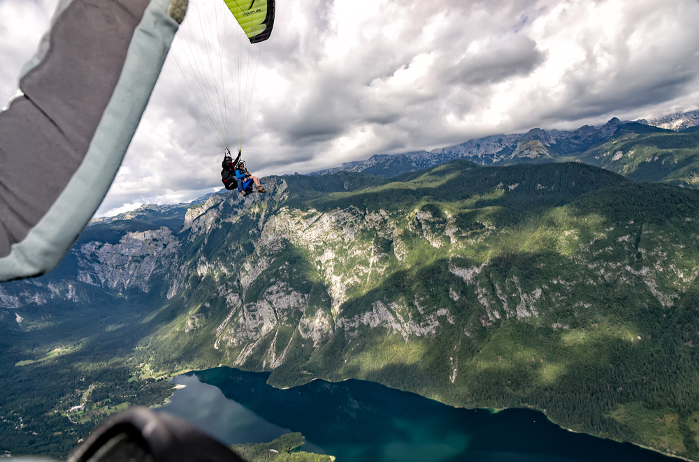 Thats me, paragliding over Lake Bohinj!
