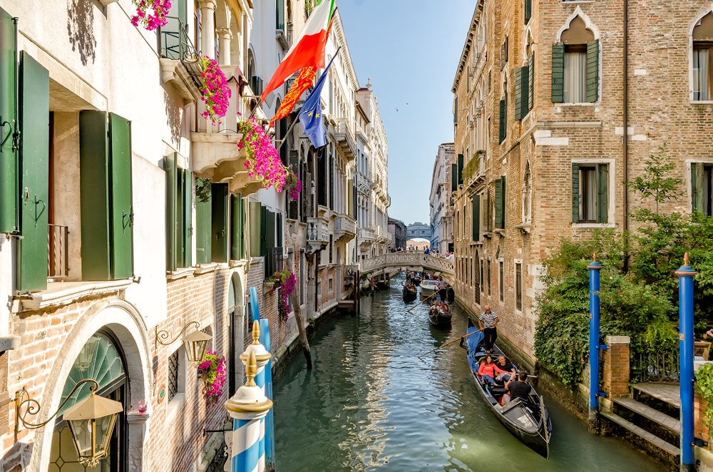 The quaint canals and bridges of Venice