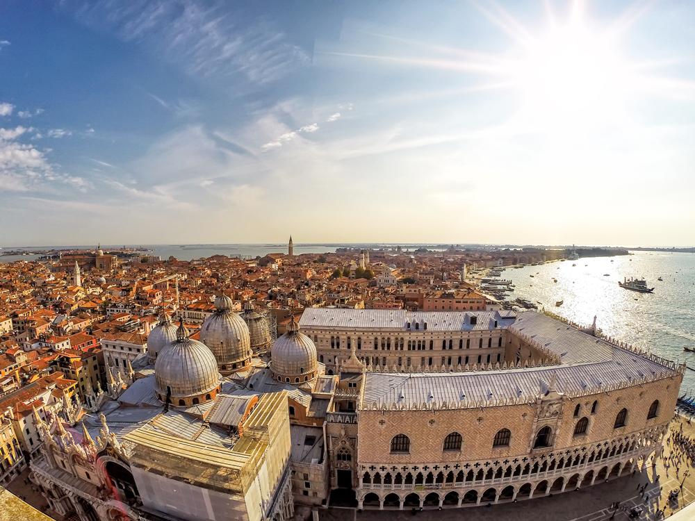 View of St Marks Square from San Giorgio Maggiore