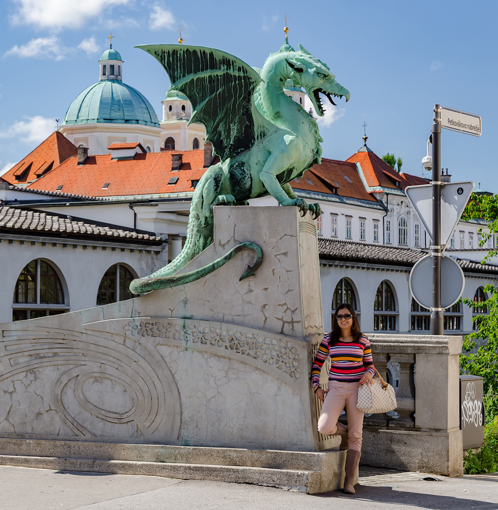 "Posing under the Dragon, also nicknamed the ""Mother in Law"""