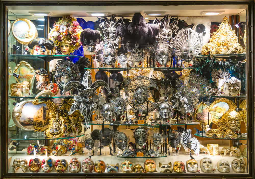 Venetian Masks in a shop window