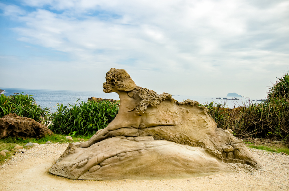 Animal of sorts feature along the Keelung Coastline at Yeh Liu Geo Park