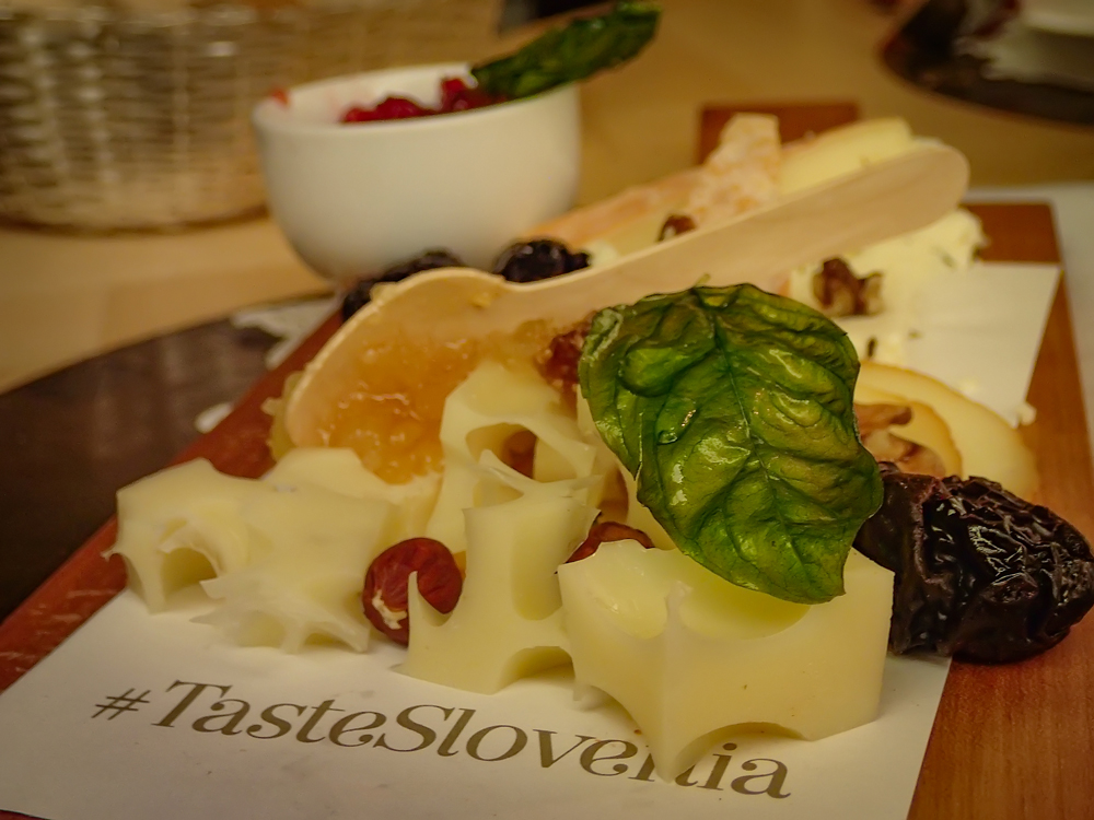 #tasteslovenia- delicious cheese platter