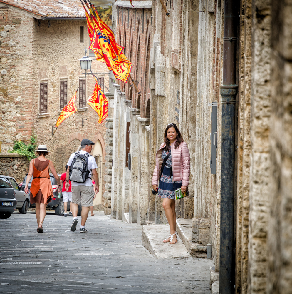 Hanging out in the streets of Montepulciano