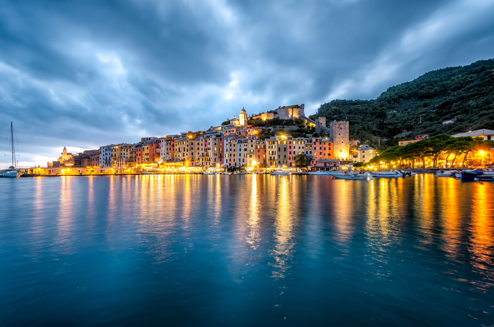 Sunset over pretty, pretty Portovenere