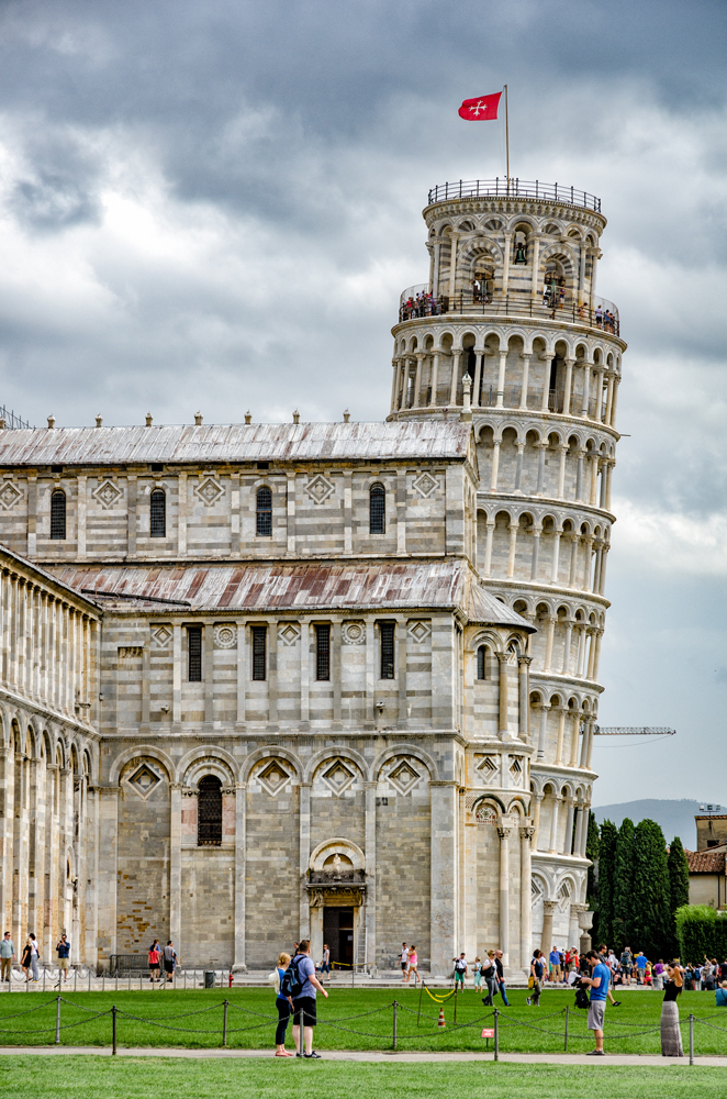 The leaning Tower of Pisa peeking out...