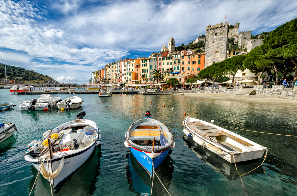 The marina in stunning Portovenere