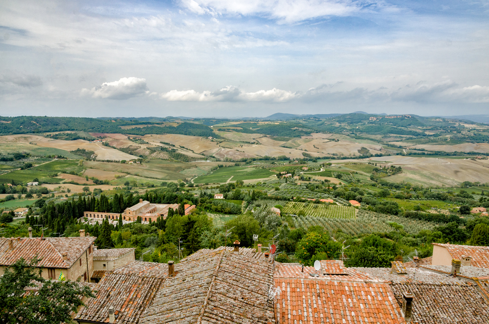 Views of the surrounding countryside from Montepulciano