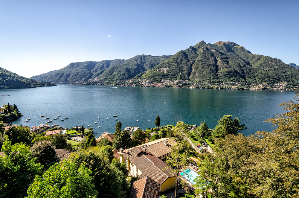 View of Lake Como from Brunatte