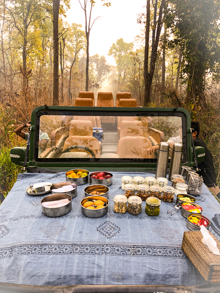 Luxury Taj Breakfast in the middle of Chitwan National Park