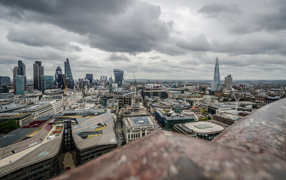 London Skyline from the balcony of St Paul's Cathedral