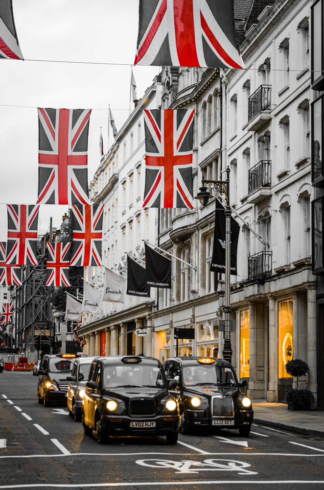 The sights and sounds of London- New Bond Street
