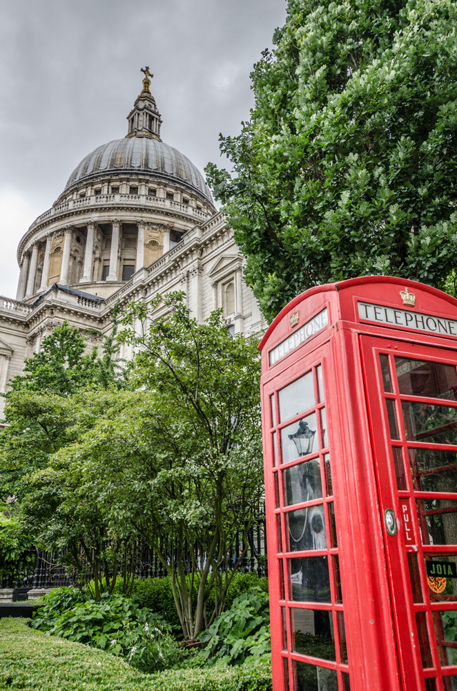 St Paul's and Iconic Phone Booths