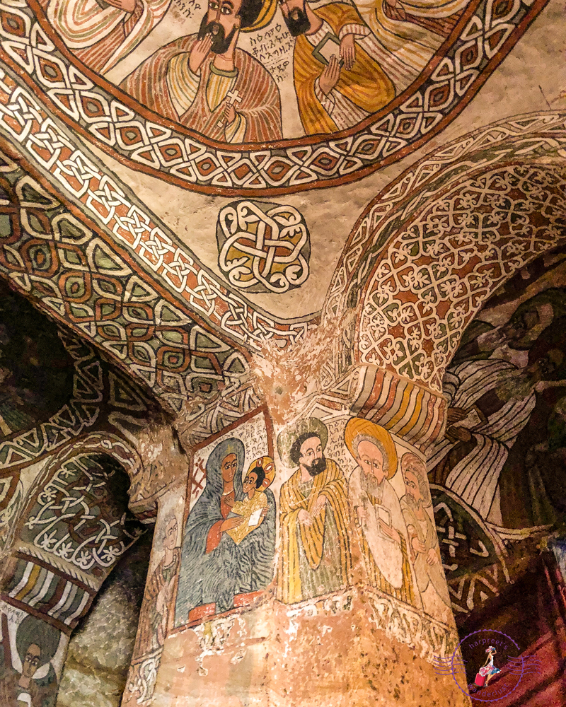 Amazing frescoes in Abuna Yemata Guh